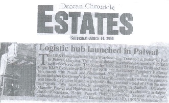 Logistic Hub launched in Palwal